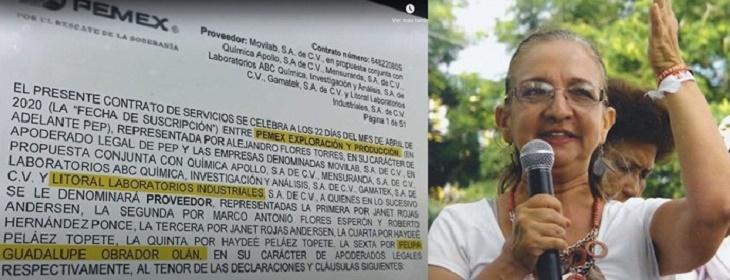 ACUSAN DE CORRUPTELA A PRIMA DE AMLO