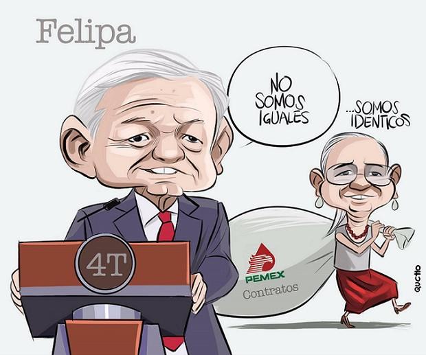 LA PRIMA FELIPA, ¿SOCIA IDEAL DE AMLO?