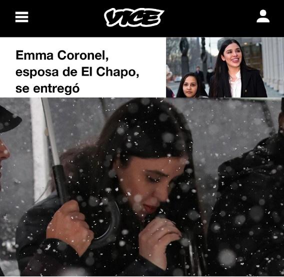 EMMA CORONEL SE ENTREGÓ, NO FUE ARRESTADA, REVELA VICE NEWS