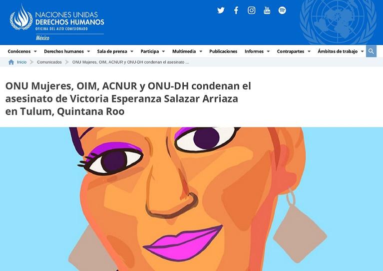 EL ASESINATO DE VICTORIA EN TULUM, DE DOBLE DISCRIMINACIÓN