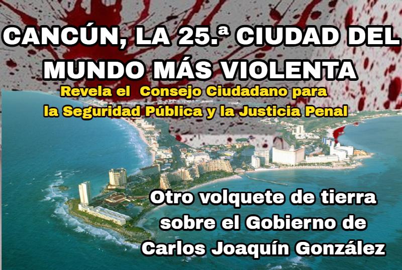 MÉXICO, EL QUE MÁS URBES VIOLENTAS TIENE EN EL ORBE, CON 18: REBASA A BRASIL