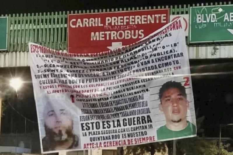 CUELGAN NARCOMANTA VINCULADA A QUINTANA ROO, EN CIUDAD DE MÉXICO | VIDEO