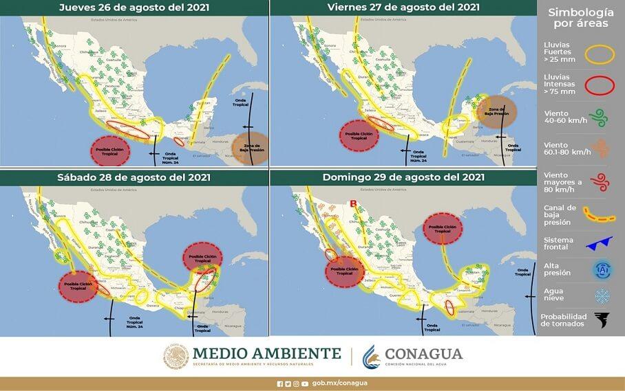 TORMENTOSO FIN DE SEMANA EN YUCATÁN | IMÁGENES ACTUALIZADAS (26-8-2021)